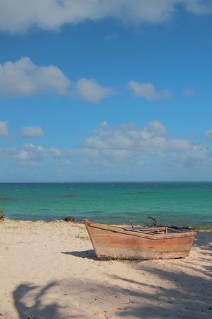 romana: Old boat. Isla Saona, La Romana, Dominican Republic