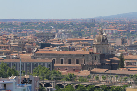 sant agata: Cathedral in city. Catania Sicily Italy