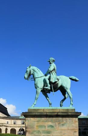ix: Equestrian statue of king Christian IX. Copenhagen Denmark Stock Photo