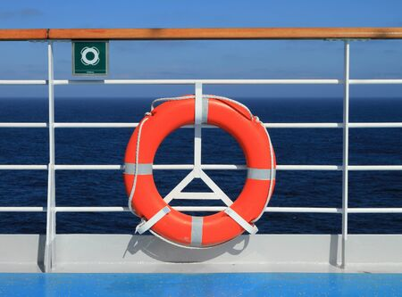 liner: Lifebuoy on deck of cruise liner