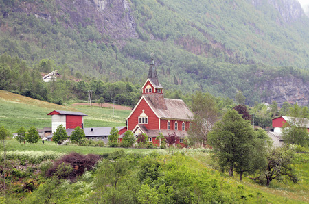 olden: In river Oldeelva valley. Olden, Norway