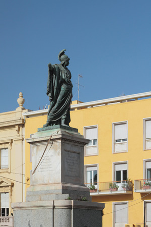 felice: Statue of king Carlo Felice. Cagliari, Sardinia Editorial