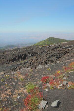 etna: Volcanic slope. Etna Sicily Italy Stock Photo