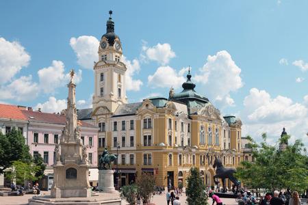 pecs: On Secheni Square. Pecs Hungary Editorial