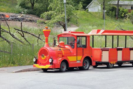 trackless: Road train for excursions. Flam Norway