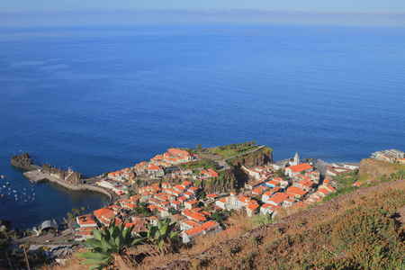 urbanized: City on sea coast. Camara-de-Lobos, Madeira, Portugal