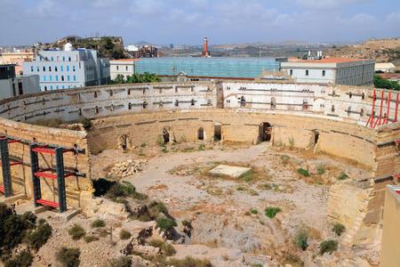 cartagena: Antique arena for bullfight. Cartagena, Spain