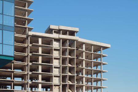 monolithic: Multystoried monolithic framework of house