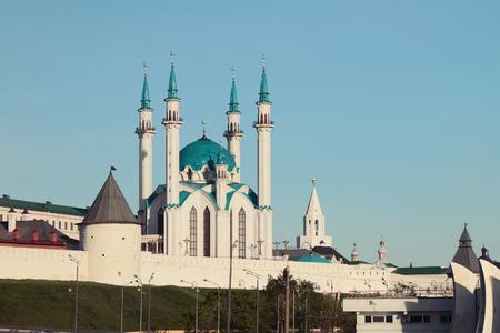 fortification: Western fortification and Kul Sharif mosque in Kazan Kremlin