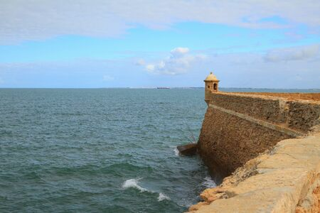 fortification: Fortification and sea. Cadiz, Spain
