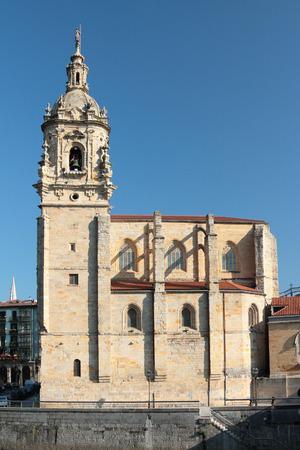anton: Saint Anton church. Bilbao, Spain Stock Photo