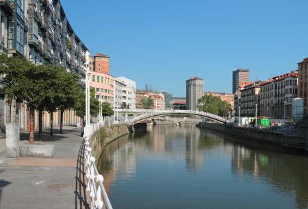 embankment: Nervion River Embankment Muelle de Martzana. Bilbao, Spain