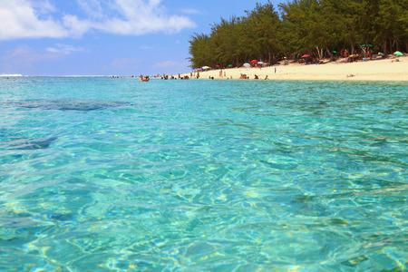 hermitage: Beach on ocean coast. Lagoon Hermitage, Reunion