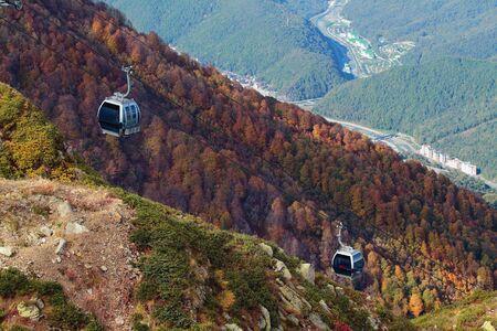 ropeway: Mountain ropeway. Sochi, Caucasus, Russia