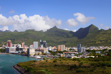 Port Louis - capital of Mauritius Stock Photo - 57696255