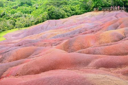 mauritius: Color sand in Chamarel. Mauritius
