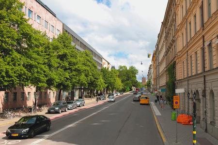 Stadtstraße. Stockholm, Schweden