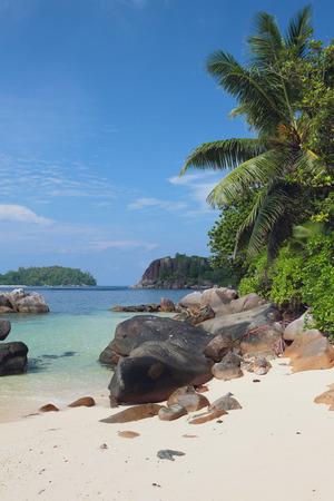 GLOD: In gulf Anse Islette. Port of Glod, Mahe, Seychelles