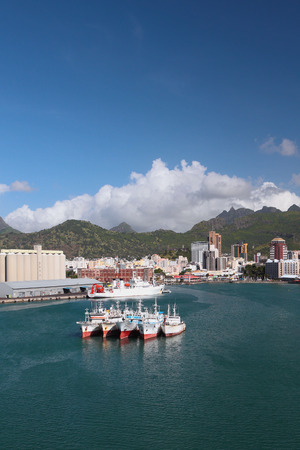 Mauritius, Port Louis, seaport water area Stock Photo