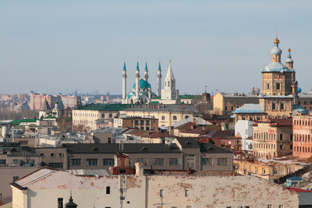 spassky: Central historical part of city. Kazan, Russia Stock Photo