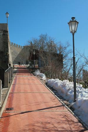 Road to Guaita castle. San marino Editorial