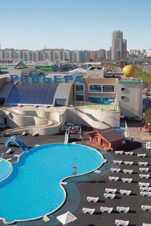 Kazan, Russia - May 26, 2018: Riviera aquapark in city