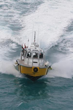 Pilot boat in full operation