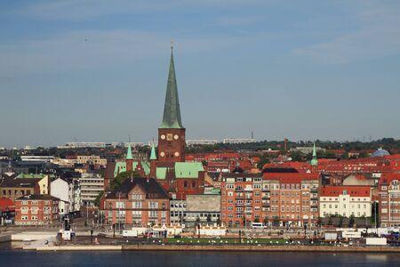Embankment and city. Aarhus, Jutland, Denmark