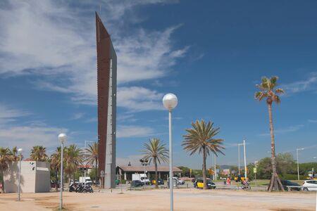 Barcelona, Spain - Jun 13, 2019: In Mediterranean resort Redakční