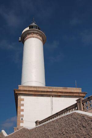 Big white beacon. Ibiza, Spain