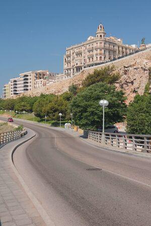 Road under Balcony of Mediterranean. Tarragona, Spain