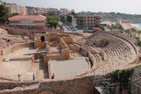 Tarragona, Spain - Jul 02, 2019: Roman amphitheater