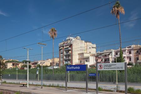 Nettuno, Lazio, Italy - Sep 16, 2019: Railway station