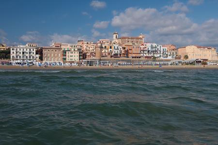 Sea coast and city. Nettuno, Lazio, Italy