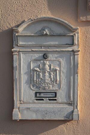 Mailbox on wall of house. Nettuno, Lazio, Italy Editöryel