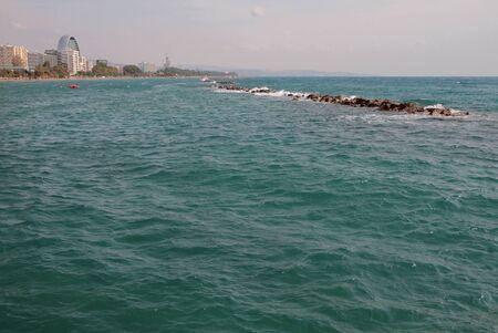Azure Sea and Coast. Limassol, Cyprus Stok Fotoğraf
