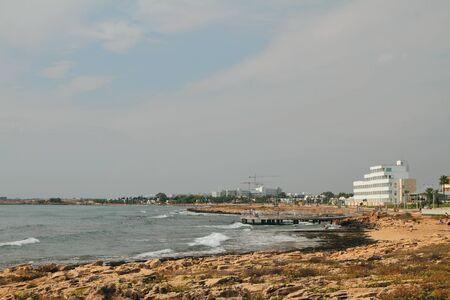In Mediterranean resort. Agia Napa, Cyprus Stok Fotoğraf