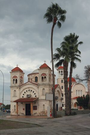 Old Panagia Faneromeni Church. Larnaca, Cyprus Stok Fotoğraf