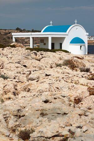 Small white chapel. Cape Greco, Ayia Napa, Cyprus