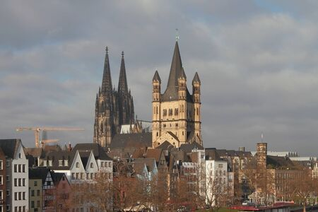 Historic center of european city. Cologne, Germany Stok Fotoğraf