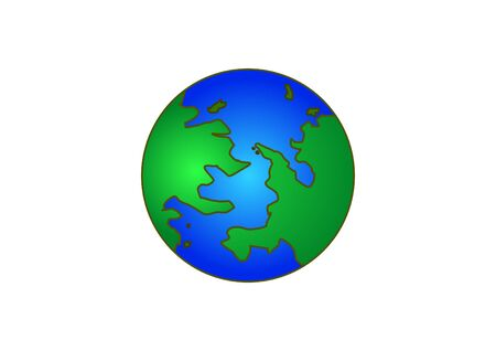 environment geography: earth on white