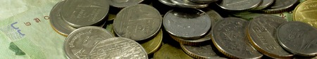 neologism: coins Stock Photo