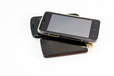 communicates: old mobile phone Stock Photo