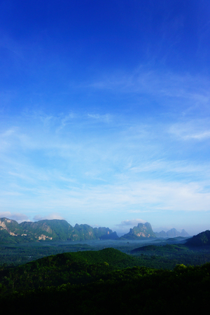 Landscape Wide angle with mountains behind 免版税图像