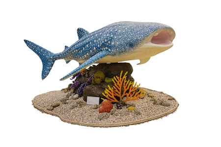 Whale shark statue for campaign about Catching fish Stock Photo