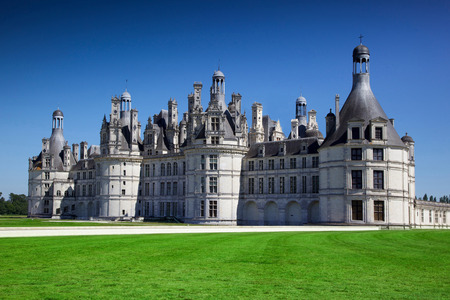 view of Chambord castle in the Loire walley