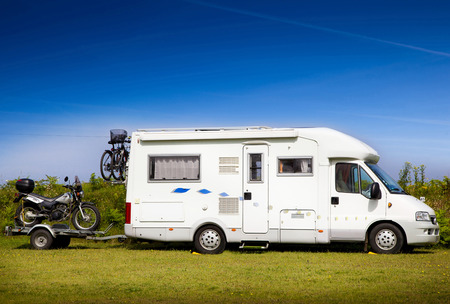 On vacation with motorhomes and motorcycles