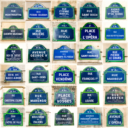 original plate: Collection of paris street plates