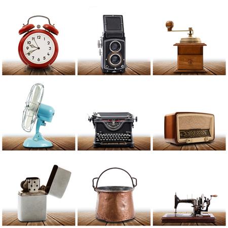 une collection originale d'objets vintage Banque d'images