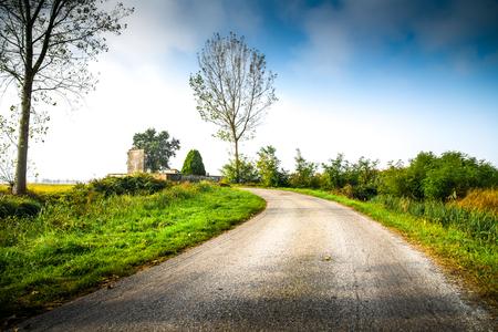an original country rural landscape